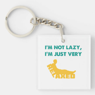Just very Relaxed Square Acrylic Key Chains