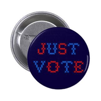 Just Vote Cross Stitch 6 Cm Round Badge