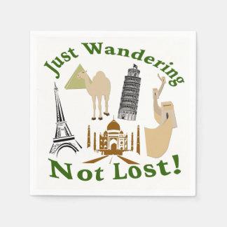 Just Wandering Not Lost Design Disposable Serviette