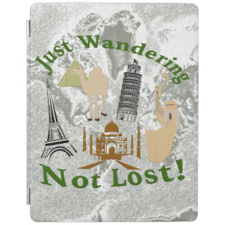 Just Wandering Not Lost Design iPad Cover