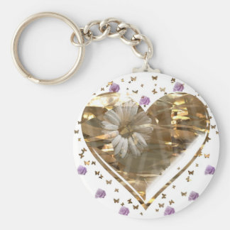 """""""Just Want To Say I Love You""""* Basic Round Button Key Ring"""
