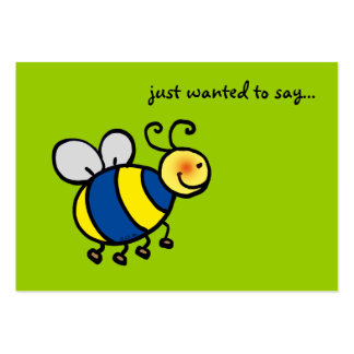 just wanted to say... (bumblebee) pack of chubby business cards