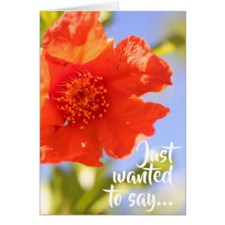 Just wanted to say I Love You! Pomegranate Card