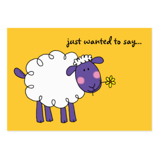 just wanted to say... (woolly sheep) business card templates