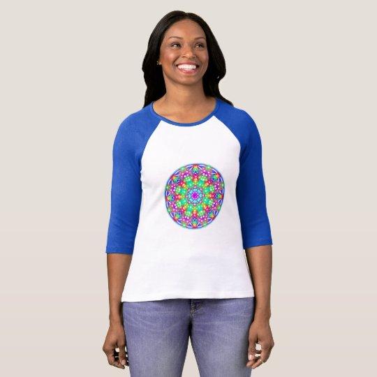 Just Watch Me Blue Mandala T-Shirt