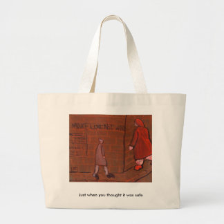 Just when you thought it was safe jumbo tote bag