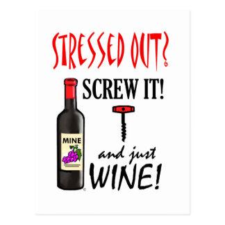 Just Wine Postcard