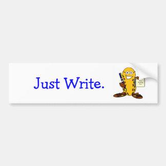 , Just Write bumper sticker