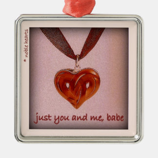 """""""just you and me, babe"""" christmas ornament"""