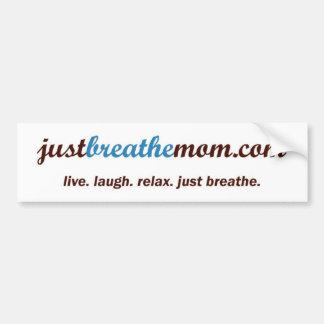JustBreatheMom com Bumper Sticker