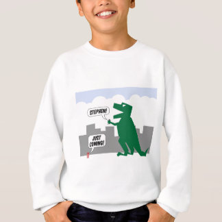 justcoming dinosaur sweatshirt