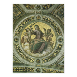 Justice by Raphael, Law School Graduation 17 Cm X 22 Cm Invitation Card