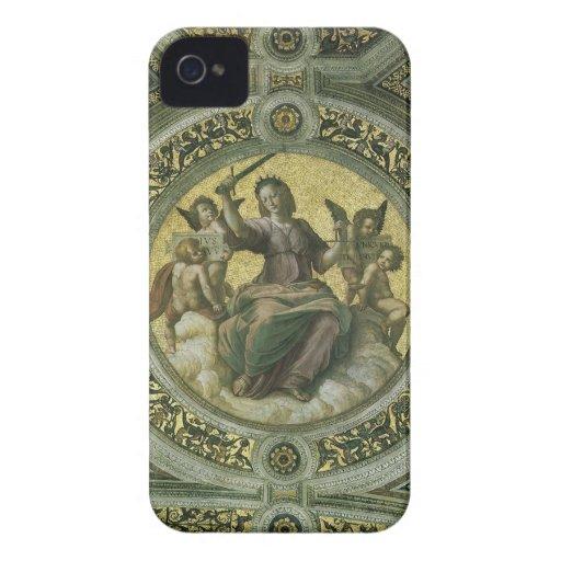 Justice by Raphael, Vintage Renaissance Art iPhone 4 Cases