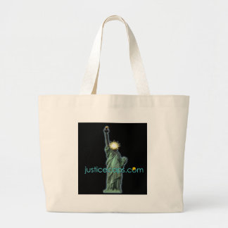 Justice Caps: Justice Means Living Free Jumbo Tote Bag