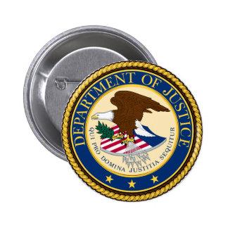 Justice Department 6 Cm Round Badge