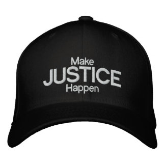 JUSTICE EMBROIDERED BASEBALL CAPS