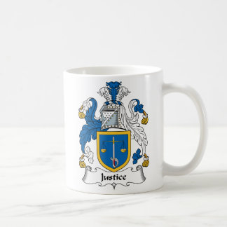 Justice Family Crest Coffee Mug