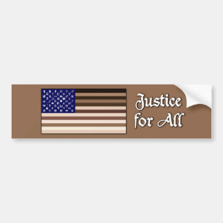 Justice for All Flag Bumper Sticker