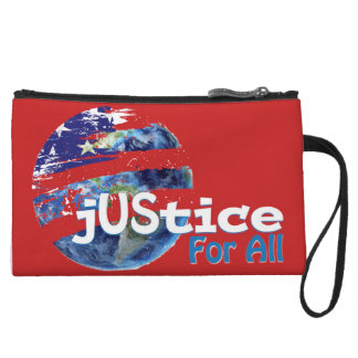 Justice for All Small Pouch Wristlet