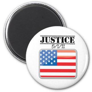 Justice for America 5/1/11 6 Cm Round Magnet