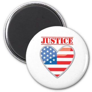 Justice For America 6 Cm Round Magnet