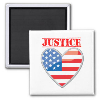Justice For America Square Magnet