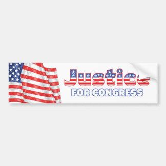 Justice for Congress Patriotic American Flag Bumper Sticker