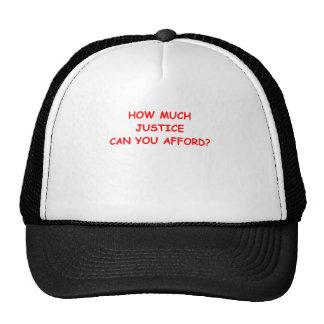 justice mesh hat