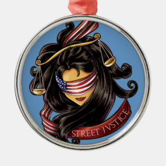 Justice Is Blind by Street Justice Christmas Ornament