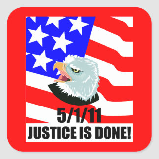 Justice is done square stickers
