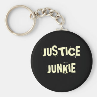 Justice Junkie - Funny Lawyer Nickname and Title Key Ring