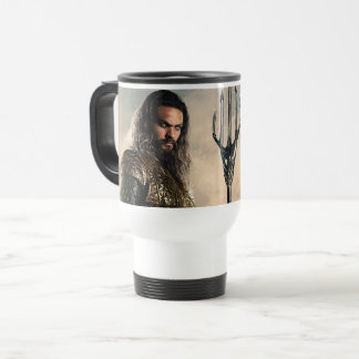 Justice League | Aquaman On Battlefield Travel Mug