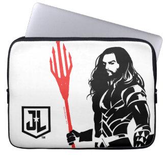 Justice League | Aquaman Pose Noir Pop Art Laptop Sleeve