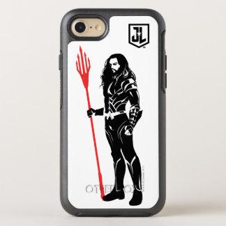 Justice League | Aquaman Pose Noir Pop Art OtterBox Symmetry iPhone 8/7 Case