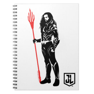 Justice League   Aquaman Pose Noir Pop Art Spiral Notebook