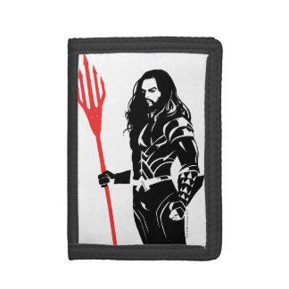 Justice League | Aquaman Pose Noir Pop Art Tri-fold Wallets