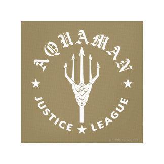 Justice League | Aquaman Retro Trident Emblem Canvas Print