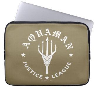 Justice League | Aquaman Retro Trident Emblem Laptop Sleeve