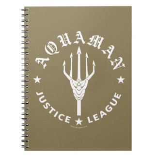 Justice League | Aquaman Retro Trident Emblem Notebooks