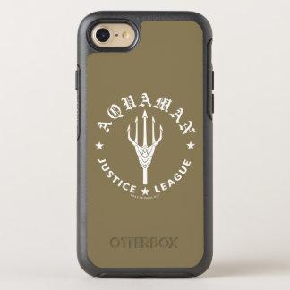 Justice League | Aquaman Retro Trident Emblem OtterBox Symmetry iPhone 8/7 Case