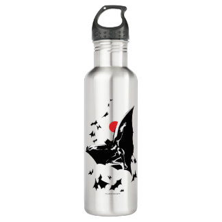 Justice League | Batman in Cloud of Bats Pop Art 710 Ml Water Bottle