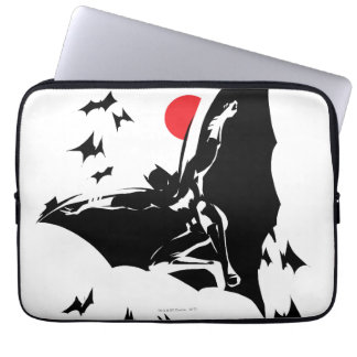 Justice League | Batman in Cloud of Bats Pop Art Laptop Sleeve