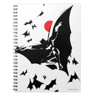 Justice League | Batman in Cloud of Bats Pop Art Notebooks