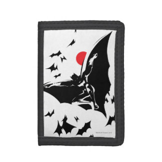 Justice League | Batman in Cloud of Bats Pop Art Trifold Wallets
