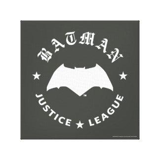 Justice League | Batman Retro Bat Emblem Canvas Print
