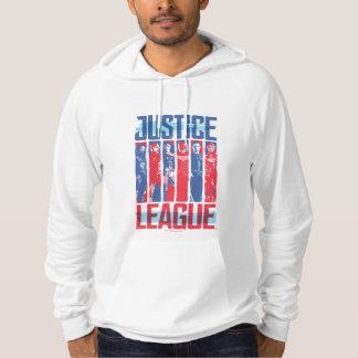 Justice League | Blue & Red Group Pop Art Hoodie