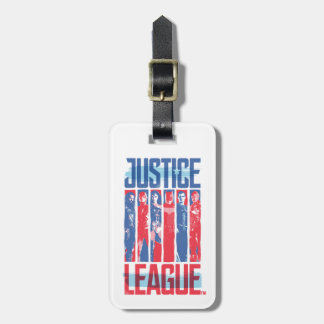 Justice League | Blue & Red Group Pop Art Luggage Tag