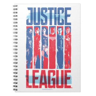 Justice League | Blue & Red Group Pop Art Notebook