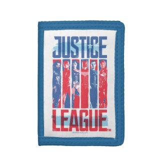 Justice League | Blue & Red Group Pop Art Tri-fold Wallets