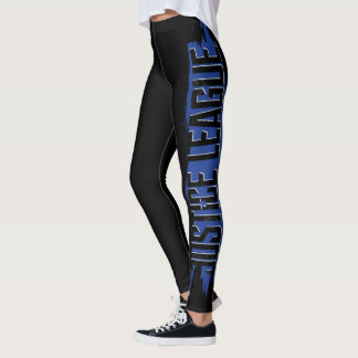 Justice League | Blue Stroke Justice League Logo Leggings
